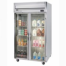Beverage-Air HFP2-1G Horizon Series 52 inch Glass Door Reach-In Freezer with LED Lighting
