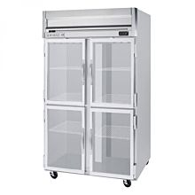 Beverage-Air HFPS2-1HG 2 Section Glass Half Door Reach-In Freezer - 49 cu. ft., Stainless Steel Exterior / Interior - Specification Series
