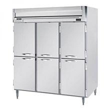 Beverage-Air HFPS3-5HS Horizon Series 78 inch Solid Half Door All Stainless Steel Reach-In Freezer