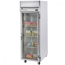 Beverage-Air HFS1-1G Horizon Series 26 inch Glass Door Reach-In Freezer with Stainless Steel Interior and LED Lighting