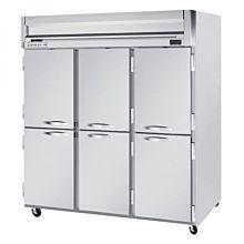 Beverage-Air HFS3-5HS Horizon Series 78 inch Solid Half Door Reach-In Freezer with Stainless Steel Interior