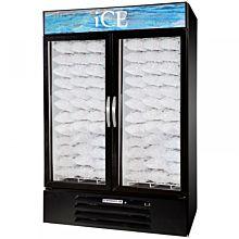 Beverage Air MMF49-1-B-ICE Ice 2 Swing Glass Door Freezer Merchandiser