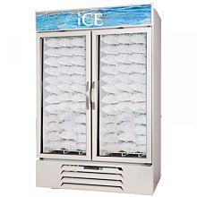 Beverage Air MMF49-1-W-ICE 2 Swing Glass Door Ice Merchandiser Freezer