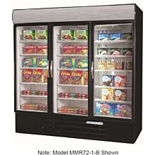 Beverage-Air MMF72-5-W-LED White Marketmax 3 Glass Door Merchandising Freezer with LED Lighting and Swing Doors - 72 Cu. Ft.