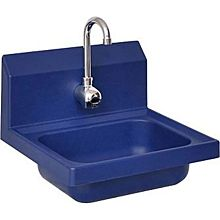 BK Resources APHS-W1410-1BSEF Antimicrobial Plastic Hand Sink With Electronic Faucet