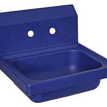 BK Resources APHS-W1410-2B Antimicrobial Plastic Hand Sink With 2 Faucet Holes