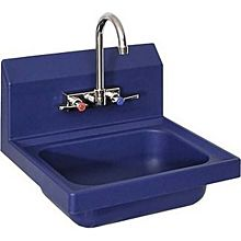 "BK Resources APHS-W1410-BE Antimicrobial Plastic Hand Sink With 4"" Faucet"