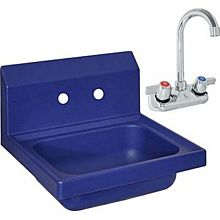 "BK Resources APHS-W1410-BPG Antimicrobial Plastic Hand Sink With 3"" Faucet"