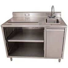 "BK Resources BEVT-3048R 48""x30"" Stainless Steel Beverage Table w/ Sink on Right"