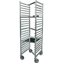 BK Resources BK-ABPRZ-1 Welded Nestable  Aluminum Pan Rack - Holds 20 Pans