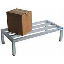 "BK Resources BK-ADR-3624-12 Commercial 36"" x 24"" Aluminum Dunnage Storage Rack"