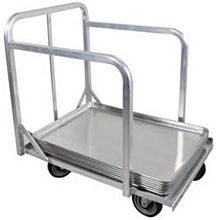 "BK Resources BK-BPD-1 Welded Aluminum Bun Pan Dolly Truck for 18"" x 26"" Sheet Pans"