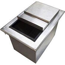 "BK Resources BK-DIBL-2818 28""Wx18""Dx14-3/8""D Stainless Steel Drop-In Ice Bin"