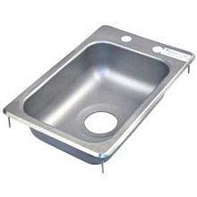 "BK Resources BK-DIS-1014-5D Drop In Stainless Steel Hand Sink 10"" x 14"" x 5"" w/ Drain"