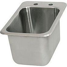 "BK Resources BK-DIS-1014 One Compartment 12-1/4""x18"" Stainless Steel Drop-In Sink"