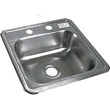 "BK Resources BK-DIS-1515 One Compartment 15-1/16""x15-1/16""StainlessSteel Drop-In Sink"