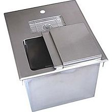 "BK Resources BK-DIWSBL-2118X 18""W Stainless Steel Drop-In Ice Bin with Water Station"
