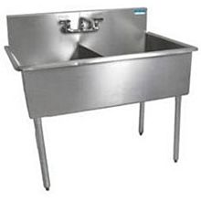 "BK Resources BK8BS-2-1821-12 2 Compartment Budget Sink 18"" x 21"" Stainless Steel"