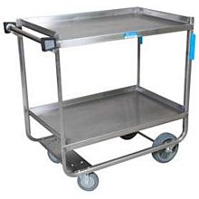 """BK Resources BKC-2133S-2H 21""""W x 33""""D 2-Tier Stainless Steel Utility Cart"""