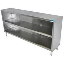 "BK Resources BKDC-1836 36""W x 18""D Stainless Steel Open Front Dish Cabinet"
