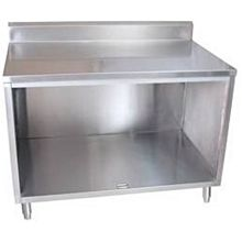 "BK Resources BKDCR5-2460 60""W x 24""D Stainless Steel Cabinet Base Work Table"