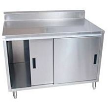 "BK Resources BKDCR5-2472S 72""W x 24""D Stainless Steel Cabinet Base Work Table"