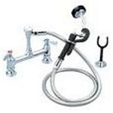 "BK Resources BKF-8DMUS-G OptiFlow Utility Spray Faucet w/ 72"" Stainless Steel Hose"