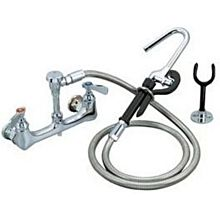 "BK Resources BKF-8SMPF-G OptiFlow Pot Filler Assembly w/ 72"" Stainless Steel Hose"