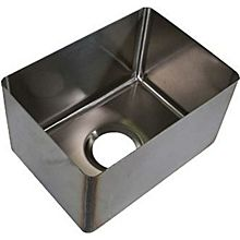 "BK Resources BKFB-1410-8-14 14"" x 10"" x 8"" One Compartment Stainless Steel Weld-In Sink"