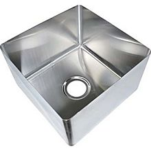 "BK Resources BKFB-1616-10-16 16"" x 16"" x 10"" One Compartment Stainless Steel Weld-In Sink"