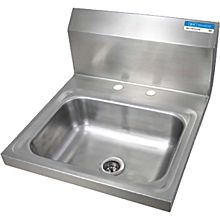 "BK Resources BKHS-D-1410 13-3/4""W Wall Mount Hand Sink without Faucet"
