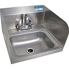 "BK Resources BKHS-D-1410-SS-P-G 14""W Wall Mount Hand Sink w/ Faucet"