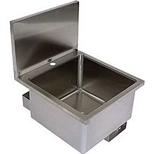 BK Resources BKHS-D-1616 Stainless Deck Mount Hand Sink w/ Knee Valve Bracket & Drain