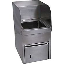"BK Resources BKHS-D-SS-SKTS 9""x9""x5"" Wall Mount Hand Sink w/ Towel Dispenser Sink Only"