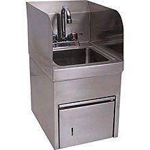 """BK Resources BKHS-D-SS-SKTS-P-G 9""""x9""""x5"""" Wall Mount Hand Sink w/ Towel Dispenser"""