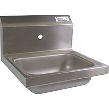 "BK Resources BKHS-W-1410-1-4D 14""W Wall Mount Hand Sink without Faucet"