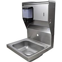 """BK Resources BKHS-W-1410-1-4D-TD 14""""W Wall Mount Hand Sink without Faucet"""