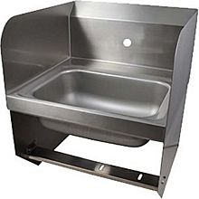 "BK Resources BKHS-W-1410-1-SS-BKK 14""W Wall Mount Hand Sink without Faucet"