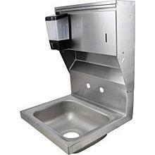 "BK Resources BKHS-W-1410-4D-TD 14"" Wall Mount Hand Sink"