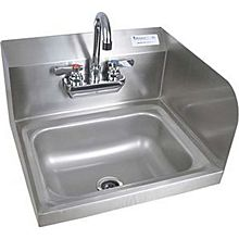 "BK Resources BKHS-W-1410-RS-P-G 13-3/4"" Wall Mount Hand Sink w/3-1/2"" Gooseneck Spout Faucet"