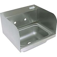 "BK Resources BKHS-W-1410-SS 14""W Wall Mount Hand Sink without Faucet"