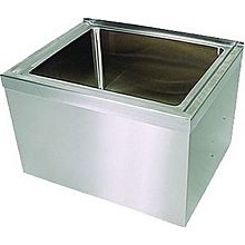 "BK Resources BKMS-1620-6-KIT 16""x20""x6"" Floor Mount Stainless Steel Mop Sink Kit"
