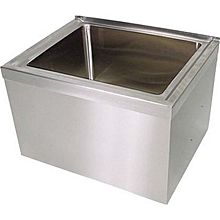 "BK Resources BKMS-2424-12 24""x24""x12"" Floor Mount Stainless Steel Mop Sink"