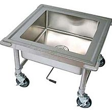 "BK Resources BKS-1-SK-20-8-ME 20""x20""x8"" Deep Bowl Mobile Soap Sink"