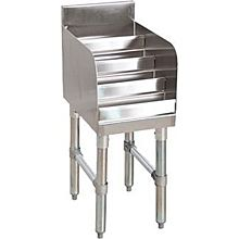 "BK Resources BKUB-LD36-18S 36""Wx18-1/4""D Stainless Steel Underbar Liquor Bottle Display"