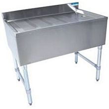 "BK Resources BKUBD-12-21S 12""W x 21-1/4""D Stainless Steel Underbar Drainboard"