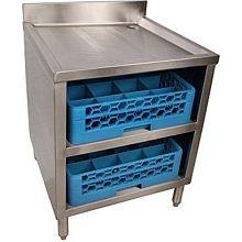 "BK Resources BKUBGC-241 24"" 2 Tier Stainless Steel Glass Rack Cabinets"