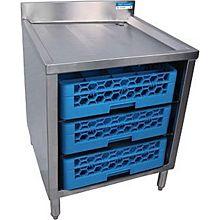 "BK Resources BKUBGC-242 24"" (3 Tier) Stainless Steel Glass Rack Cabinets"
