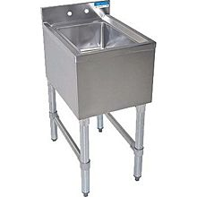 "BK Resources BKUBS-1014HS-18S 14-1/2""Wx18-1/4""D Stainless Steel Slimline Underbar DumpSink"