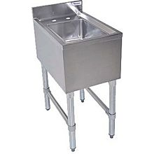 "BK Resources BKUBS-1014HS-P-GS 14-1/2""Wx21-1/4""D Stainless Steel Slimline Underbar DumpSink"